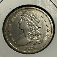 1832 SILVER CAPPED BUST QUARTER HIGH GRADE OLD TYPE COIN