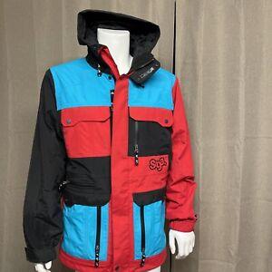 SAGA OUTERWEAR CO Ski Snowboard Winter Coat Jacket Parka ColorBlock Men's Medium