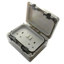 Outdoor IP66 Weatherproof/Waterproof 2 Gang Double Switched Socket - Outside Use