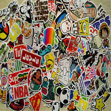 10pcs/lot Sticker Bomb Decal Vinyl Roll Car Motor Skate Skateboard Laptop