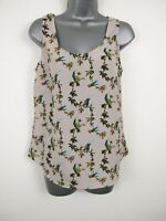WOMENS OASIS PINK BIRD PATTERNED BLOUSE CASUAL TOP  UK 12