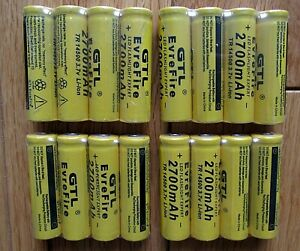 14500 3.7V 2700mah. Size AA Rechargeable Batteries Long Life HEAVY DUTY Buttoned