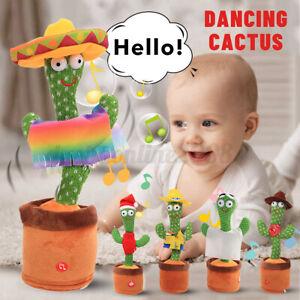 6Type 120 Lieder Aufnehmen Lernen Zu Sprechen Tanzender Kaktus Geschenke Kinder