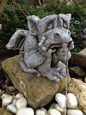 Steinfigur Wasserspeier Drache Garten Deko KoiTeich Frostfeste Steinfiguren