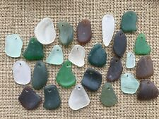 #YY  25 pre top drilled pieces of Scottish Sea glass various sizes & colours