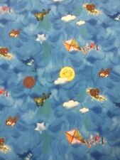 100% cotton Quilting Fabric Giordano Blue Birds Clouds Kites Vintage