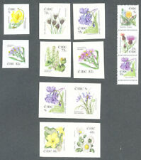 Ireland Flowers series- Scarce -booklet and self-adhesives complete mnh