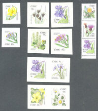 Ireland Flowers series-booklet and self-adhesives complete mnh