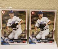 2018 Bowman Walker Buehler 2X Rookie Card Los Angeles Dodgers