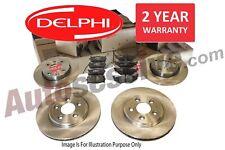 Delphi Peugeot 307 00-08 Rear Brake Solid Discs /& Pads 1.4 1.4 HDI 1.6 2.0 HDI