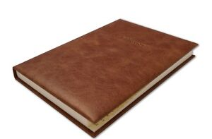 Deluxe Real High Quality Leather A5 Desk Address Book in Vintage Italian Hide
