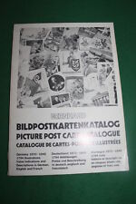 BILDPOSTKARTENKATALOG GERMANY 1870-1945 CATALOGUE BERNHARD 1972