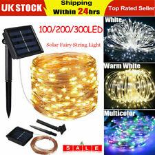 5-30M 200LED Solar String Lights Waterproof Copper Wire Fairy Outdoor Garden vs
