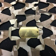 New Blank Paintball Dog Tag - Brass
