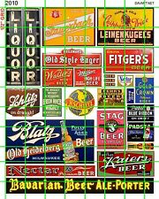 2010 DAVE'S DECALS HO SCALE ASSORTED VINTAGE BEER LIQUOR STORE ADVERTISING SIGNS