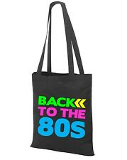 BACK TO THE 80s Tote Bag - 80's Fancy Dress Costume Outfit Neon Party Shoulder