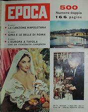 EPOCA N°500/ 01/MAG/1960 - NUMERO DOPPIO ! - GINA E LE BELLE DI ROMA -