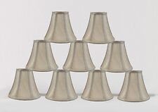 "Urbanest Chandelier Mini Lamp Shade Softback Bell Champagne 3""x6""x5"" set of 9"