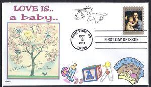 FAMILY TREE  BABY   STORK  BIRDS     FDC- DWc  CACHET