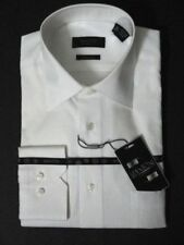 MANTONI MEN'S DRESS SHIRT WHITE  STRIPES 2XL 18.5 36 37