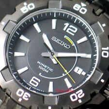 SEIKO Kinetic SKA447 SKA447P1 Mens Black Dial 100m Black Stainless Steel Watch