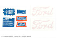 Decal Set (Safety/Service/Hood Decals) for 8N Ford 1947-1949 - Part # 8N4749D