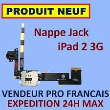 ✖ NAPPE PRISE AUDIO JACK ET LECTEUR SIM IPAD 2 3G ✖ NEUF GARANTI EXPEDITION 24H✖