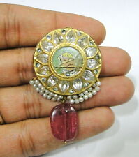 Vintage antique 20K Gold Sarpech turban ornament from Rajasthan India