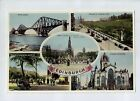 D9601cgt UK Edinburgh Multiview vintage postcard
