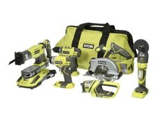 Combo Kit 18-Volt ONE+Lithium-Ion Cordless 6-Tool with (2) Batteries,Charger,Bag