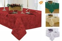 Elegant Tablecloth Damask Table Cover Wedding Holiday Room Party Home Decor NEW