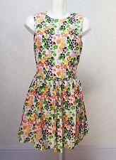 RIVER ISLAND floral cotton sleeveless High neck mini Skater dress Open back s 10