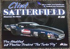 2016 Clint Satterfield Yearwood '68 Pontiac Firebird Pro Mod Nhra postcard