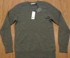Mens Authentic HELMUT LANG Core Cashmere Crewneck Sweater Gray Medium $395