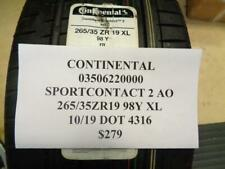 1 NEW CONTINENTAL SPORTCONTACT 2 AO 265 35Z 19 98Y XL TIRE 03506220000  Q9