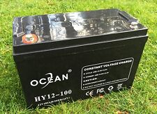 OCEAN HY12-100 12V 100AH AGM SLA DEEP CYCLE BATTERY FOR SOLAR WIND VRLA 12V 24V