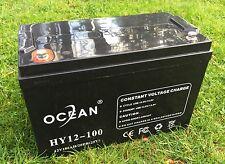 OCEAN HY12-100 12V 100AH AGM SLA DEEP CYCLE BATTERY FOR SOLAR WIND VRLA 12V 24V