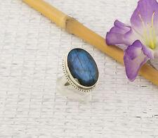 Ovale Echte Edelstein-Ringe mit Labradorit für Damen