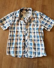 Boys SHIRT Short Sleeves Checked Blue Pale Pink White 1 Pocket 11yrs by M & S