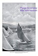 Yacht Rennen im Vancouver Harbour XL 1914 Kunstdruck Hafen Kanada Segelboot +