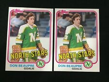 (2) DON BEAUPRE ROOKIES TOPPS 1981 MINNESOTA NORTH STARS RC HOCKEY CARDS