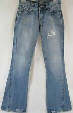 PRE-OWNED WOMEN'S TAG+ JEANS ID#1009 DISTRESSED DENIM SIZE 25