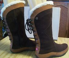"The North Face ""JANEY"" Faux Fur Topped Water Resistant Brown Boots; Size 10; NIB"