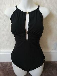 New Stunning Black Sexy Swimming Costume Swimsuit Swimwear 22 Bnwt