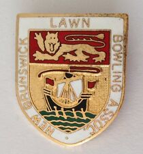 New Brunswick Lawn Bowling Assn Club Badge Pin Rare Vintage UK (M19)