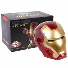 Iron Man Adult Motorcycle Helmet Cosplay Mask Touch Sensing Mask with LED Light
