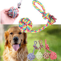 1pc Neu Haustier Hunde Kauen-Knotenseil Baumwolle Hundespielzeug Seil Spielzeug