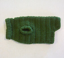 Crochet Olive Green Dog Sweater for X-Small Pet