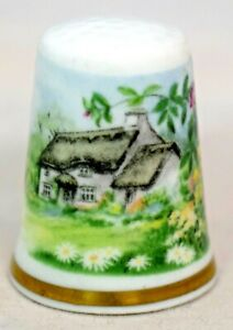 """Royal Worcester - Country """"Cottage Garden"""" Thimble - Fine Bone China"""