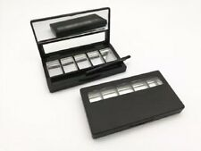 Empty 5 Grids Eyeshadow Lipstick Powder Box Case Cosmetic Palettes Brush